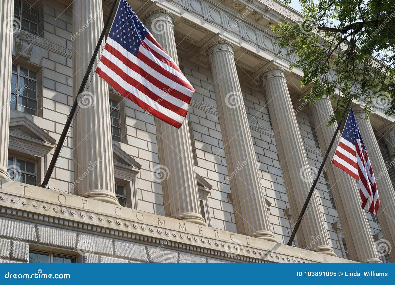 Ministerio de Hacienda de Estados Unidos la fachada