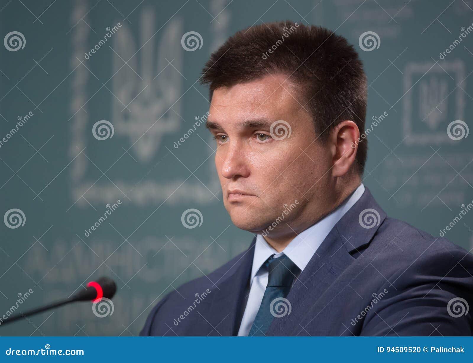 Ministro degli affari esteri dell Ucraina Pavlo Klimkin