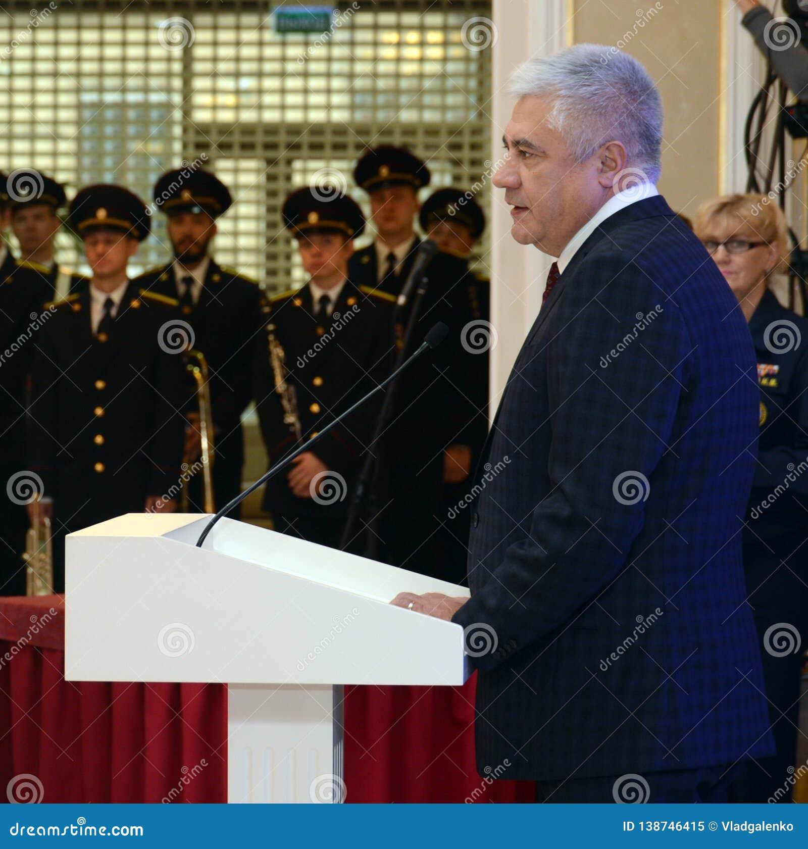 Ministro degli affari interni della Federazione Russa Vladimir Kolokoltsev nel Consiglio di federazione dell Assemblea federale