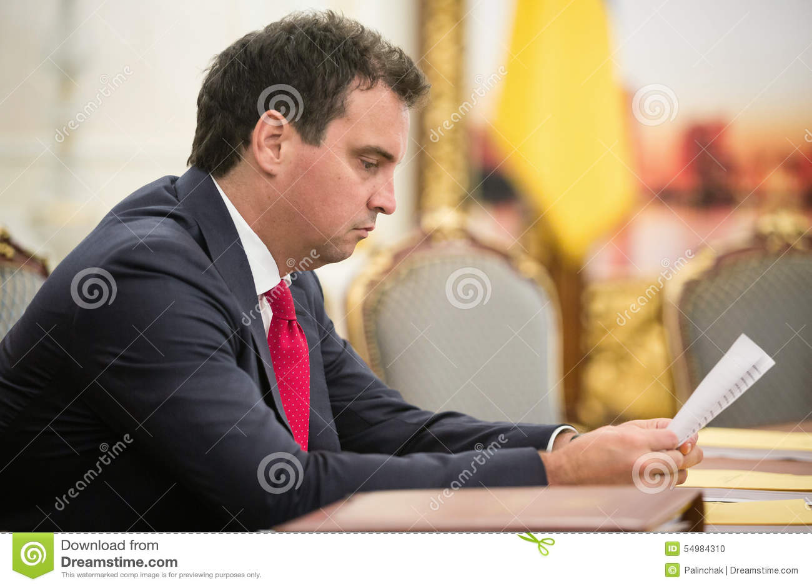 Ministro del desarrollo económico y del comercio de Ucrania Aivaras Ab