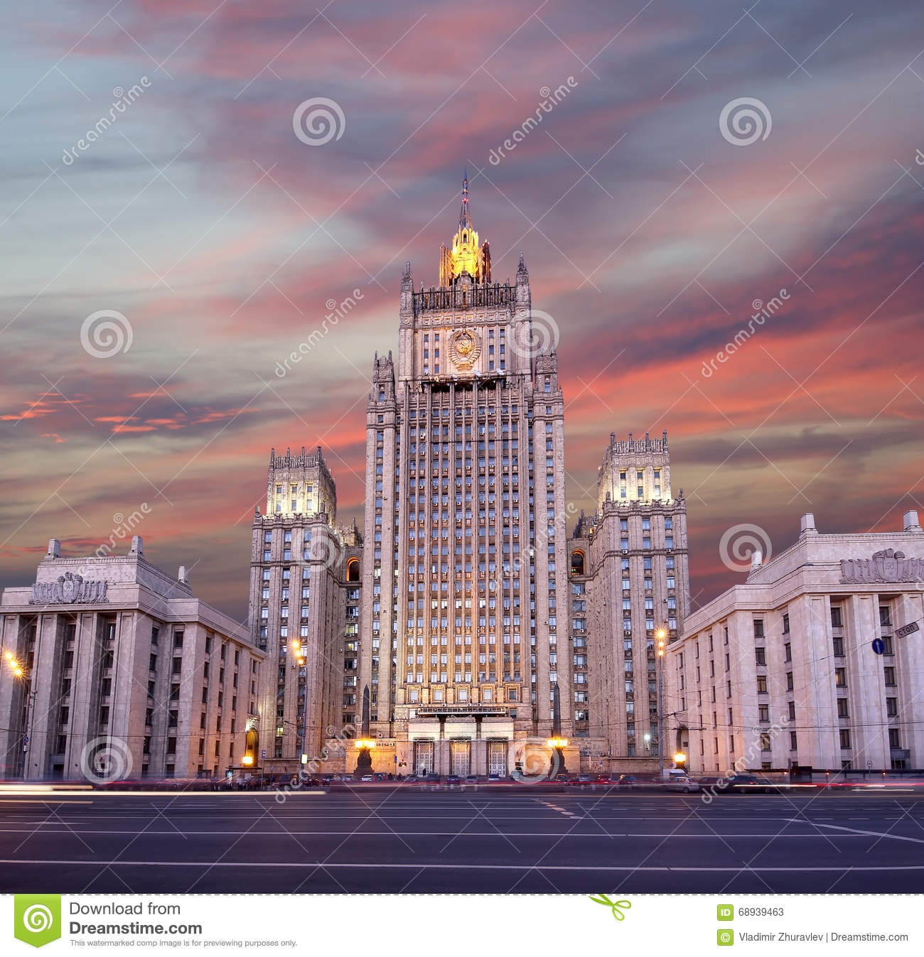 Ministry of Foreign Affairs of the Russian Federation, Smolenskaya Square, Moscow, Russia