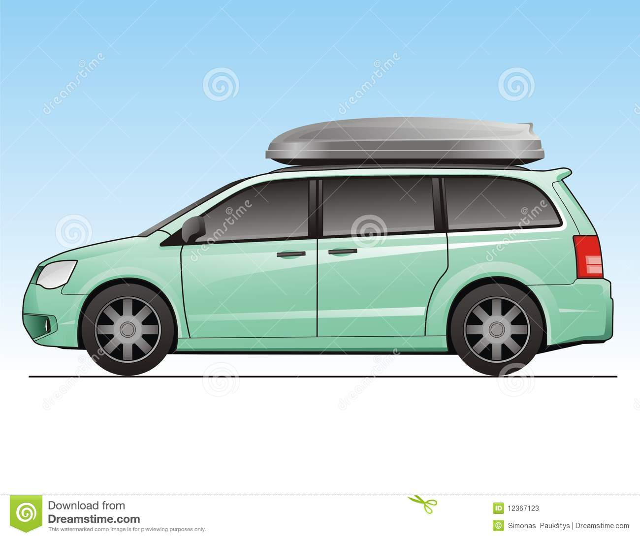 minivan stock vector image of adventure voyage tire. Black Bedroom Furniture Sets. Home Design Ideas