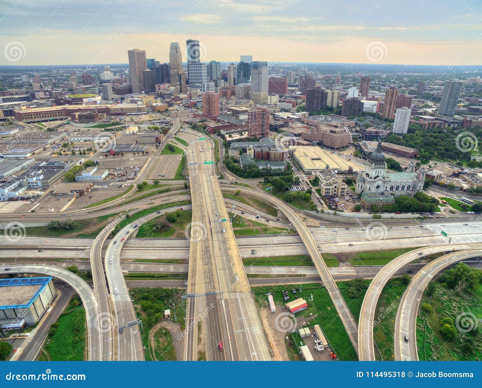 Minneapolis Skyline in Minnesota, USA