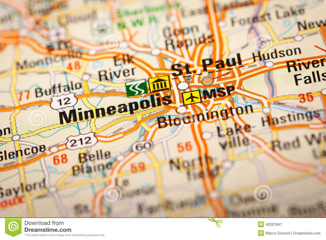 Minneapolis, USA stock image. Image of defocused, selective - 40201841