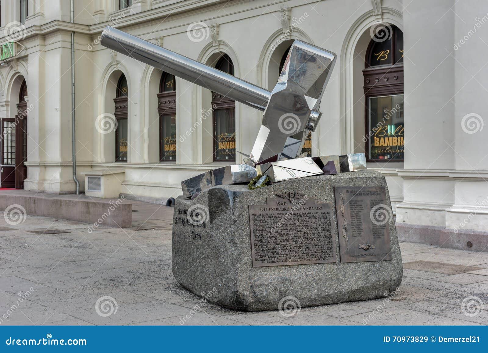 Minnesmärke för Oslo världskrig 2