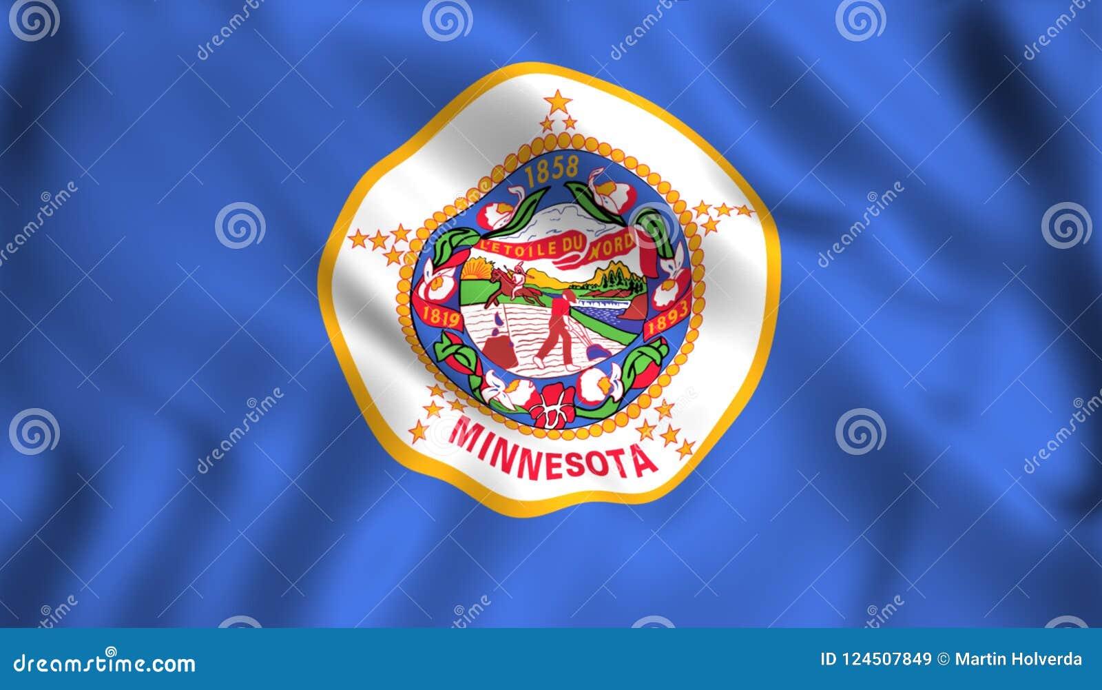 Minnesota Flag Us State Symbol Stock Illustration Illustration Of