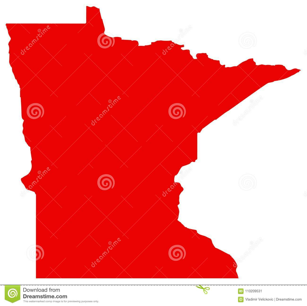 Minnesota Map - State In The Midwestern And Northern Regions Of The ...
