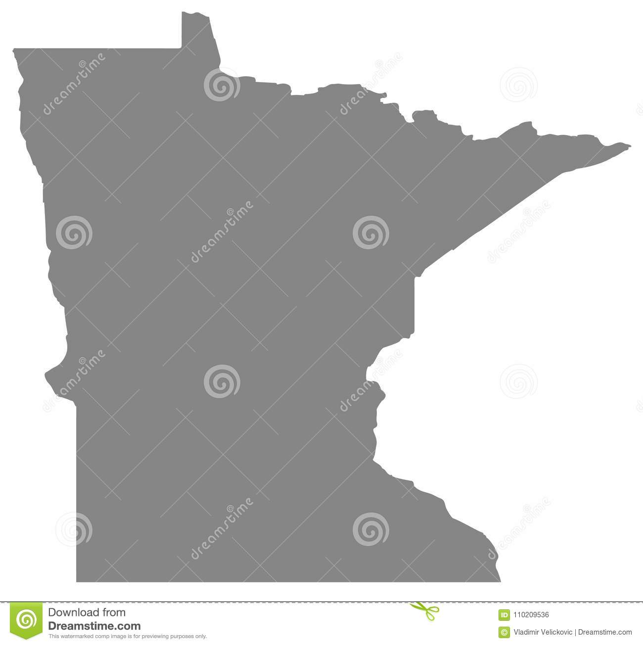 Minnesota Map State In The Midwestern And Northern Regions Of The
