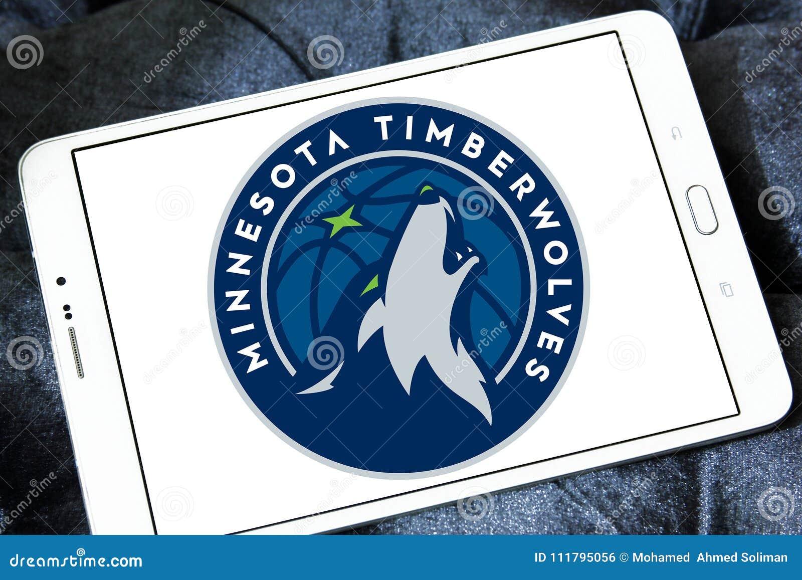 Minnesota Timberwolves American Basketball Team Logo Editorial