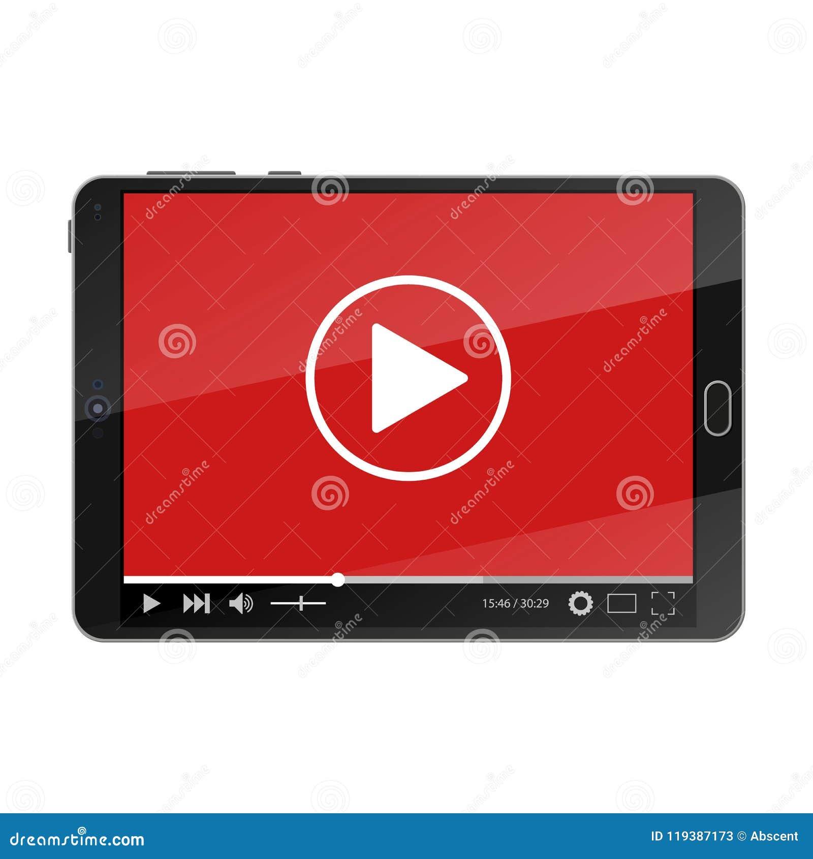 MinnestavlaPC med videospelaren på skärmen