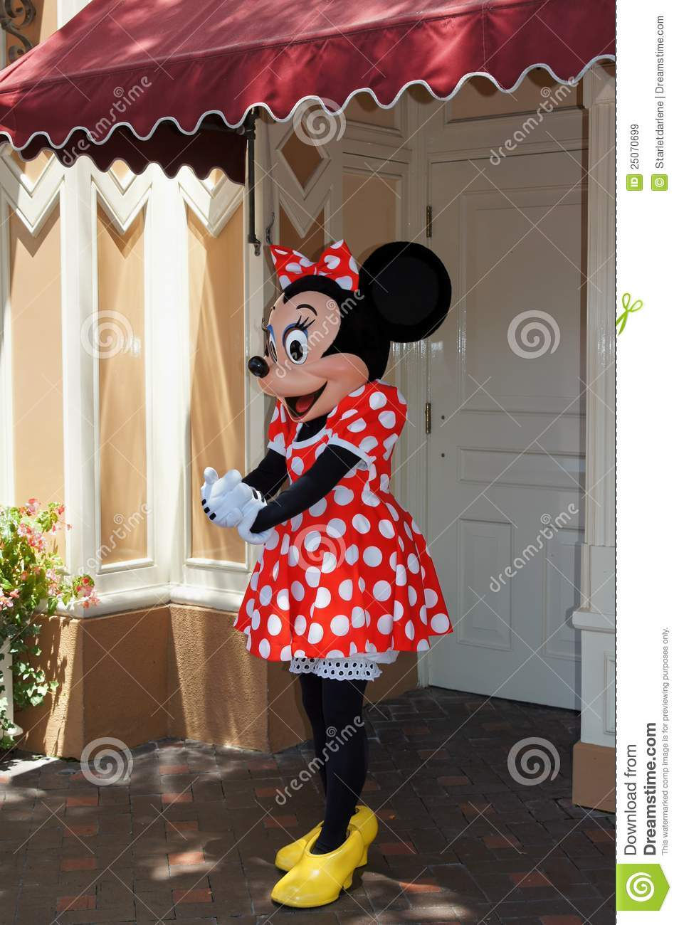 Minnie Mouse Disneyland Editorial Stock Image Image Of