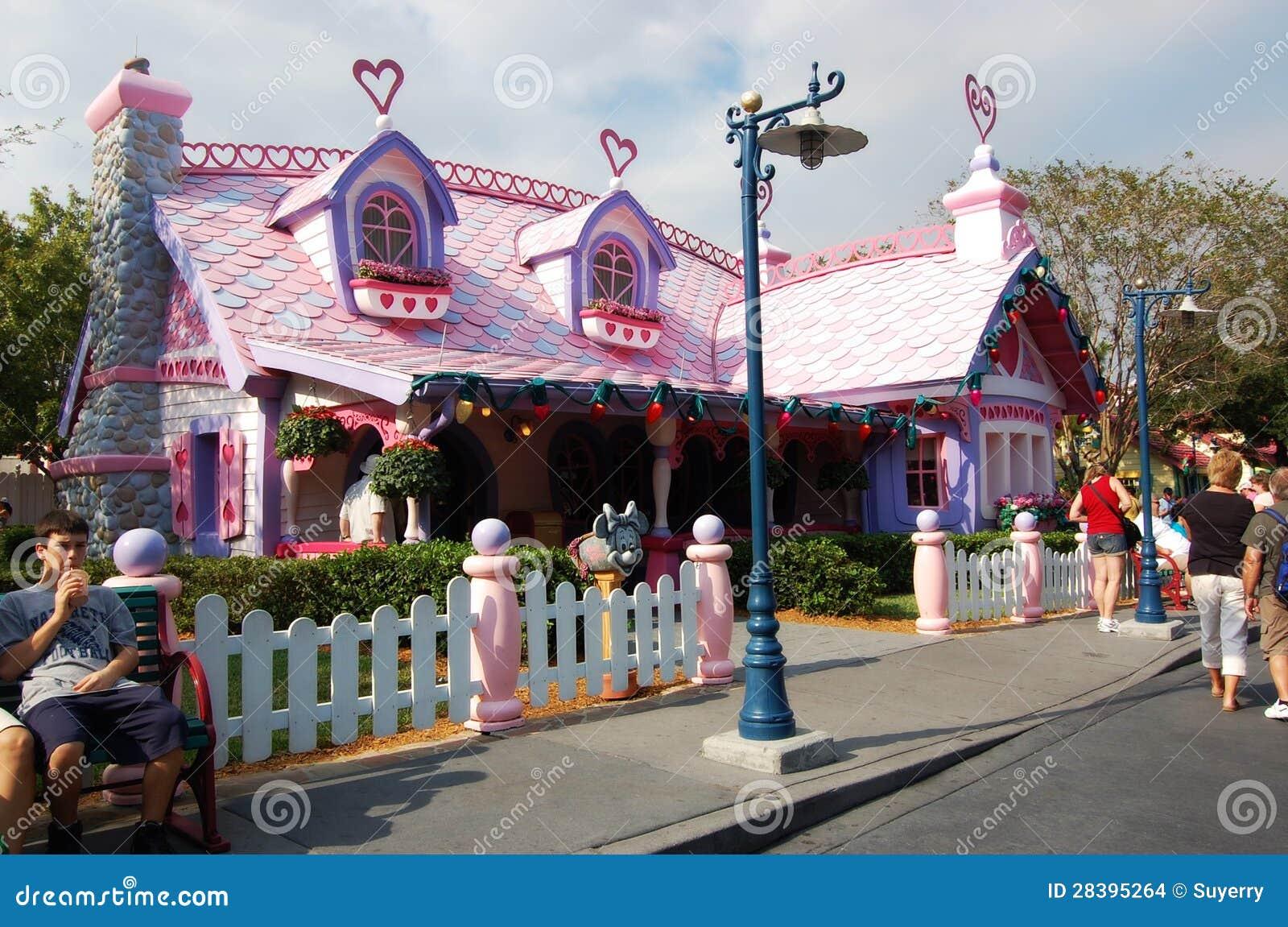 Minnie Mouse\'s House Disneyland Orlando Florida Editorial Stock ...