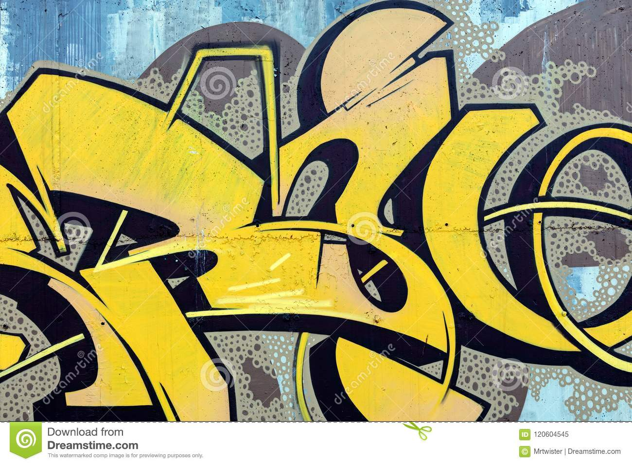 Grunge Color Texture, Street Art Graffiti On Wall Editorial Image ...