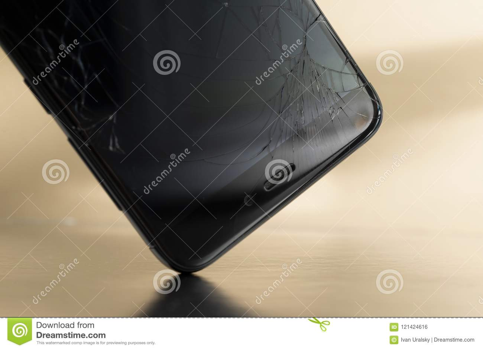 Minsk Belarus Jule 13 2018 Shattered Display Of The Phone Xiaomi Redmi 3 Pro