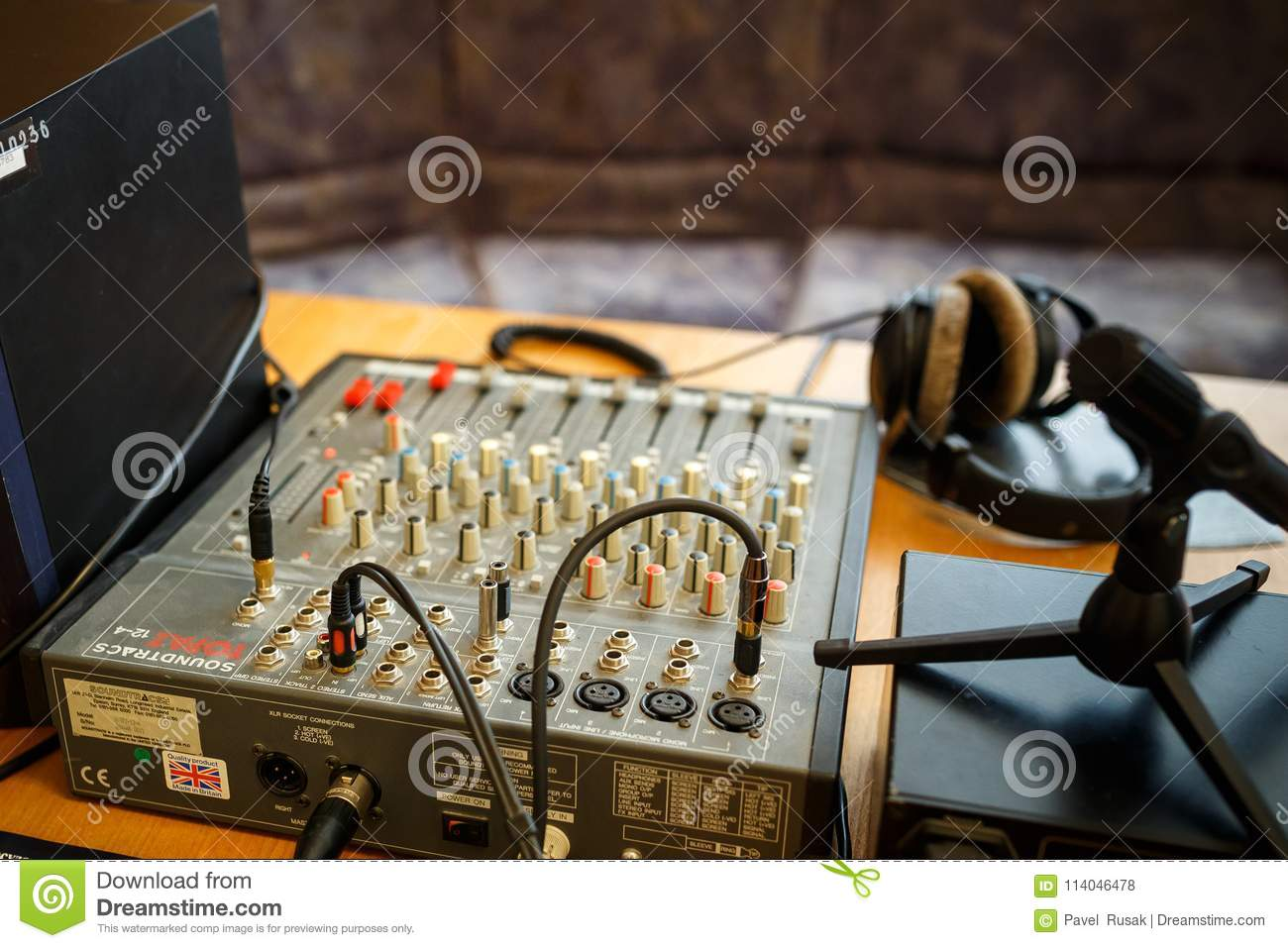 Minsk Belarus May 1 2017 Equipment For Acoustic Voice Analysis Forensic Examination Editorial Stock Photo Image Of Medical Audio 114046478