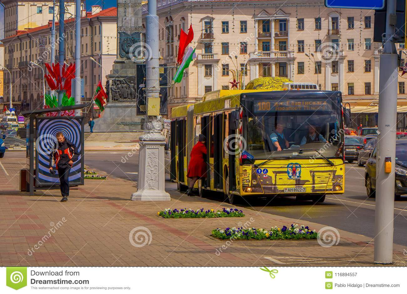MINSK, BELARUS - MAY 01, 2018: Outdoor View Of MAZ City Bus Minsk ...