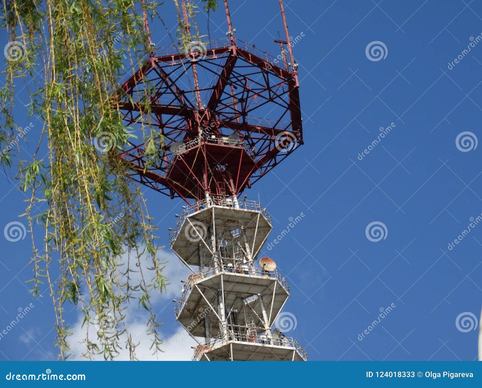 Minsk-Fernsehturm von Fernsehen und von Rundfunk