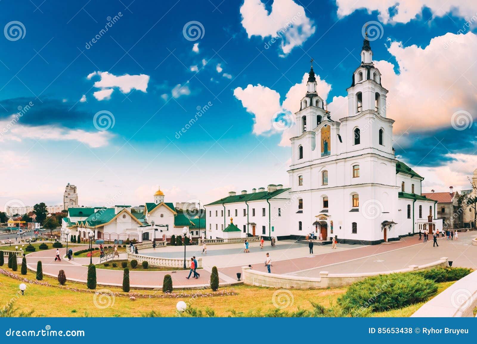 Minsk, Vitryssland Domkyrka av den heliga anden berömd landmark