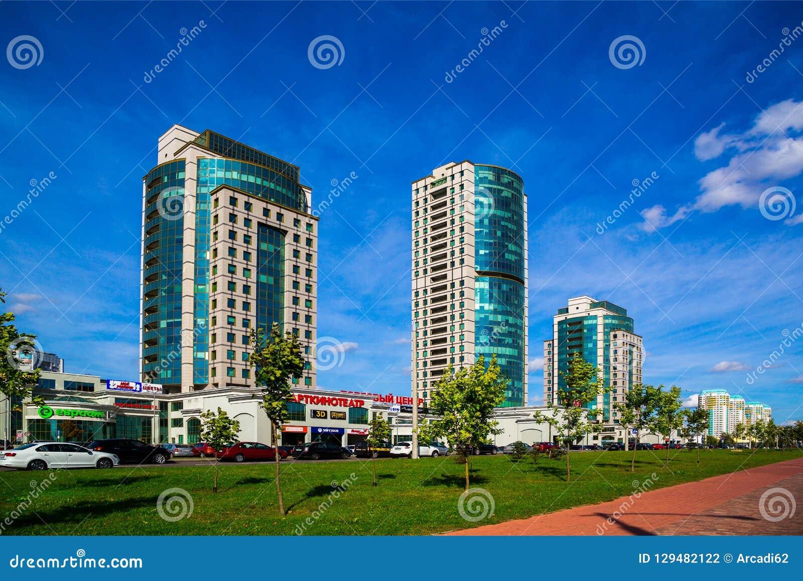 Minsk Vitryssland Dzerzhinsky aveny