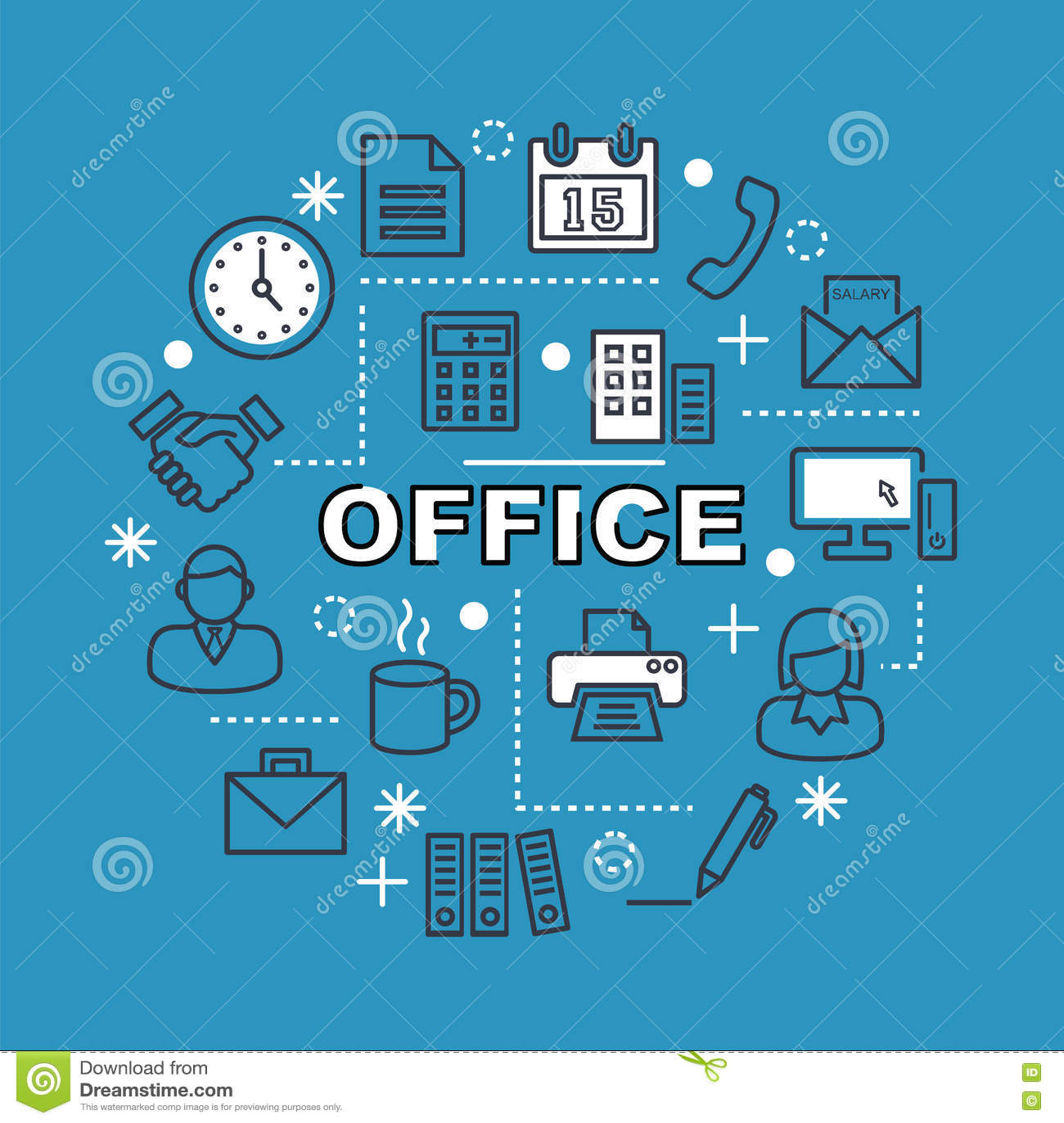 Minsta översiktssymboler för kontor