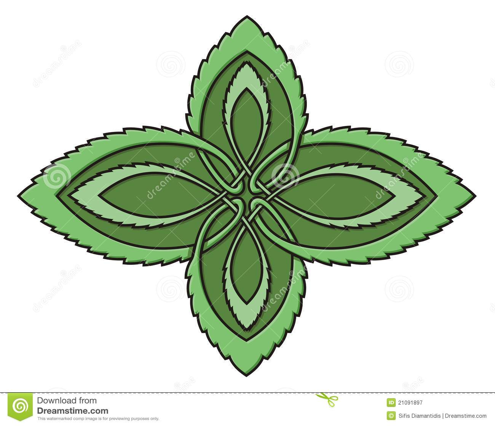 Mint celtic knot