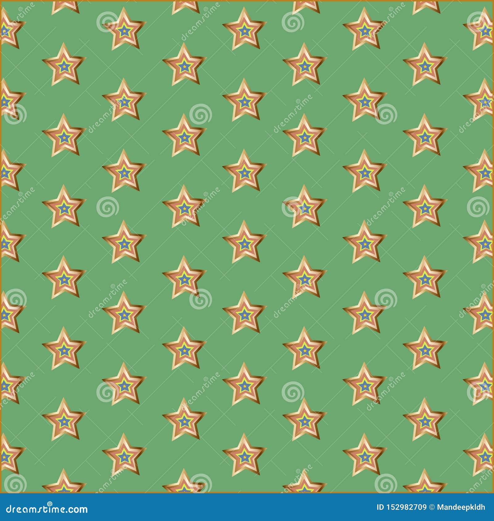 Mint Gold Pattern Background Golden Foil Tinted Digital