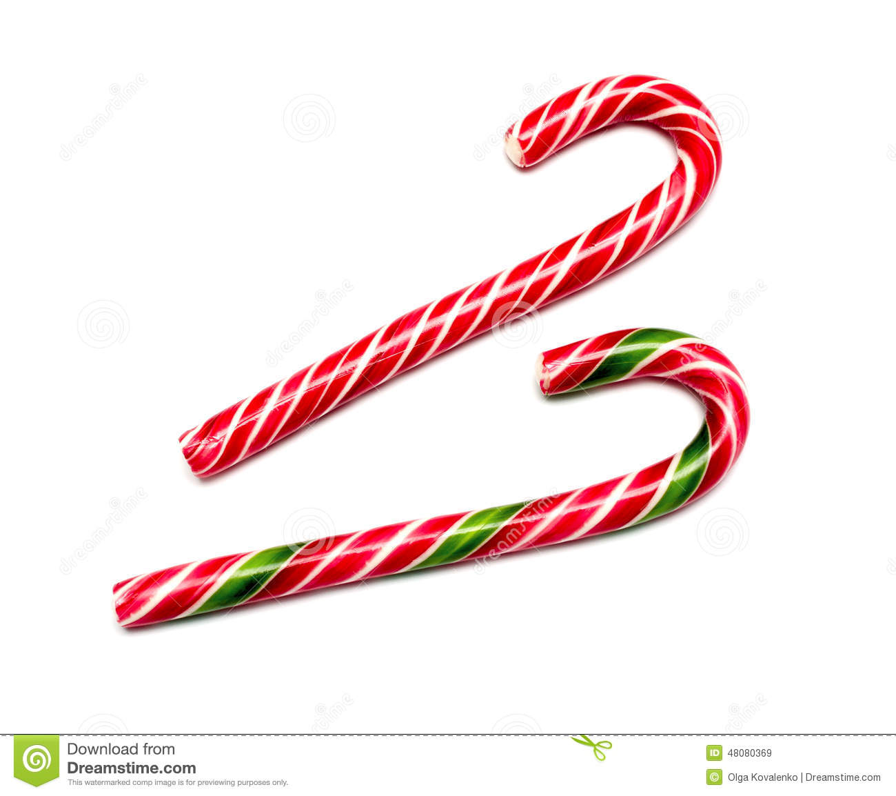 Mint hard candy cane striped in christmas colours stock photo image 48080369 - Canne de noel ...