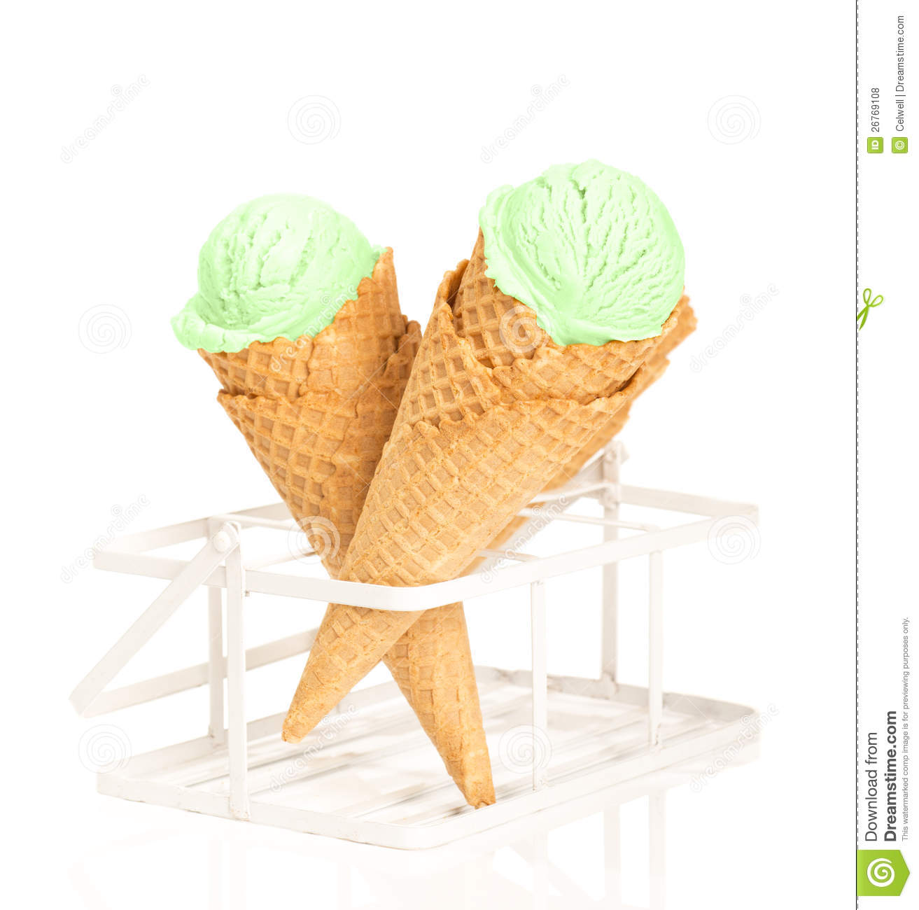 Mint Ice Cream Royalty Free Stock Photos - Image: 26769108