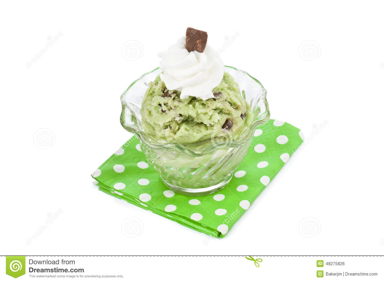 Mint Ice Cream Stock Photo - Image: 48275826