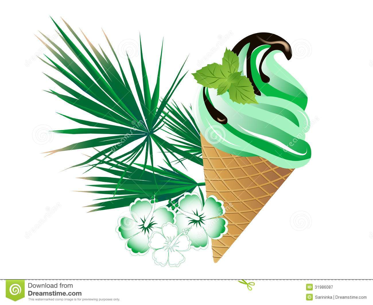 Mint Ice Cream Royalty Free Stock Photography - Image: 31986087