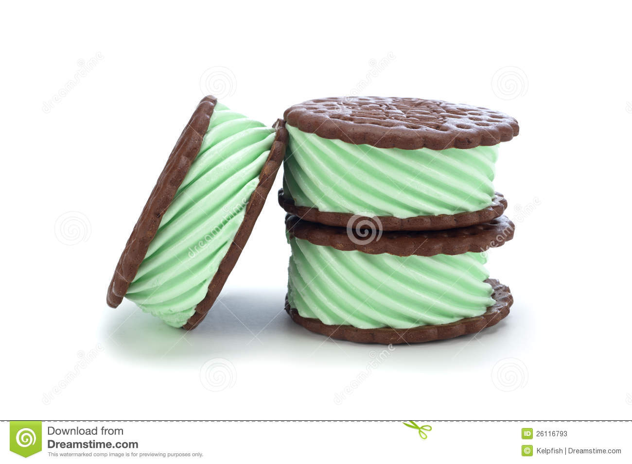 Mint Ice Cream Sanswich Stock Photos - Image: 26116793