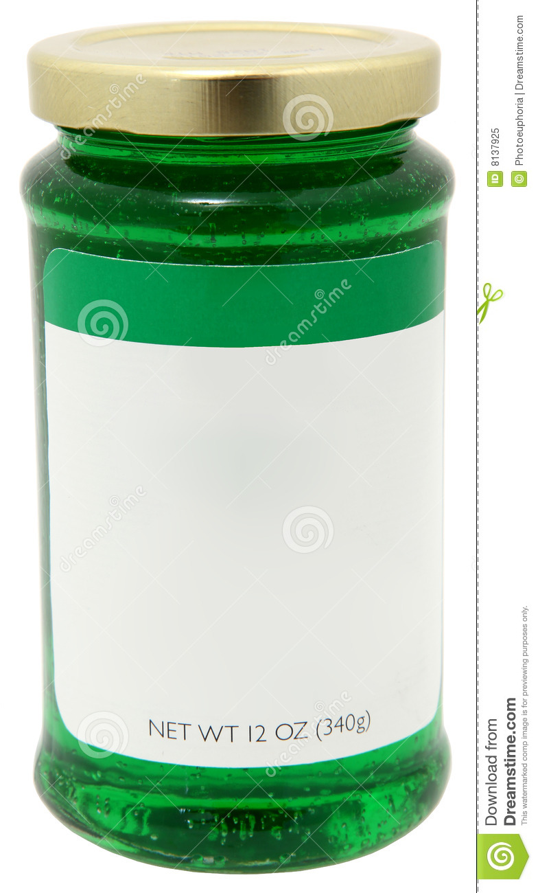 Mint Jelly With Blank Label Royalty Free Stock Photo - Image: 8137925