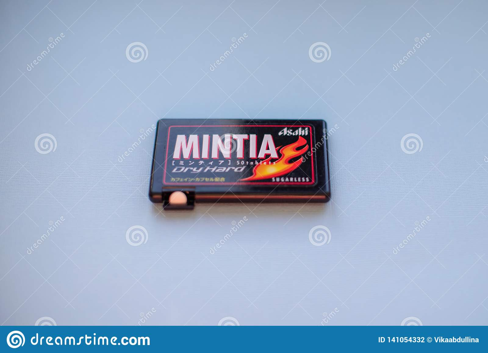 Mintia -在日本生产的干坚硬无糖的薄菏由品牌朝日