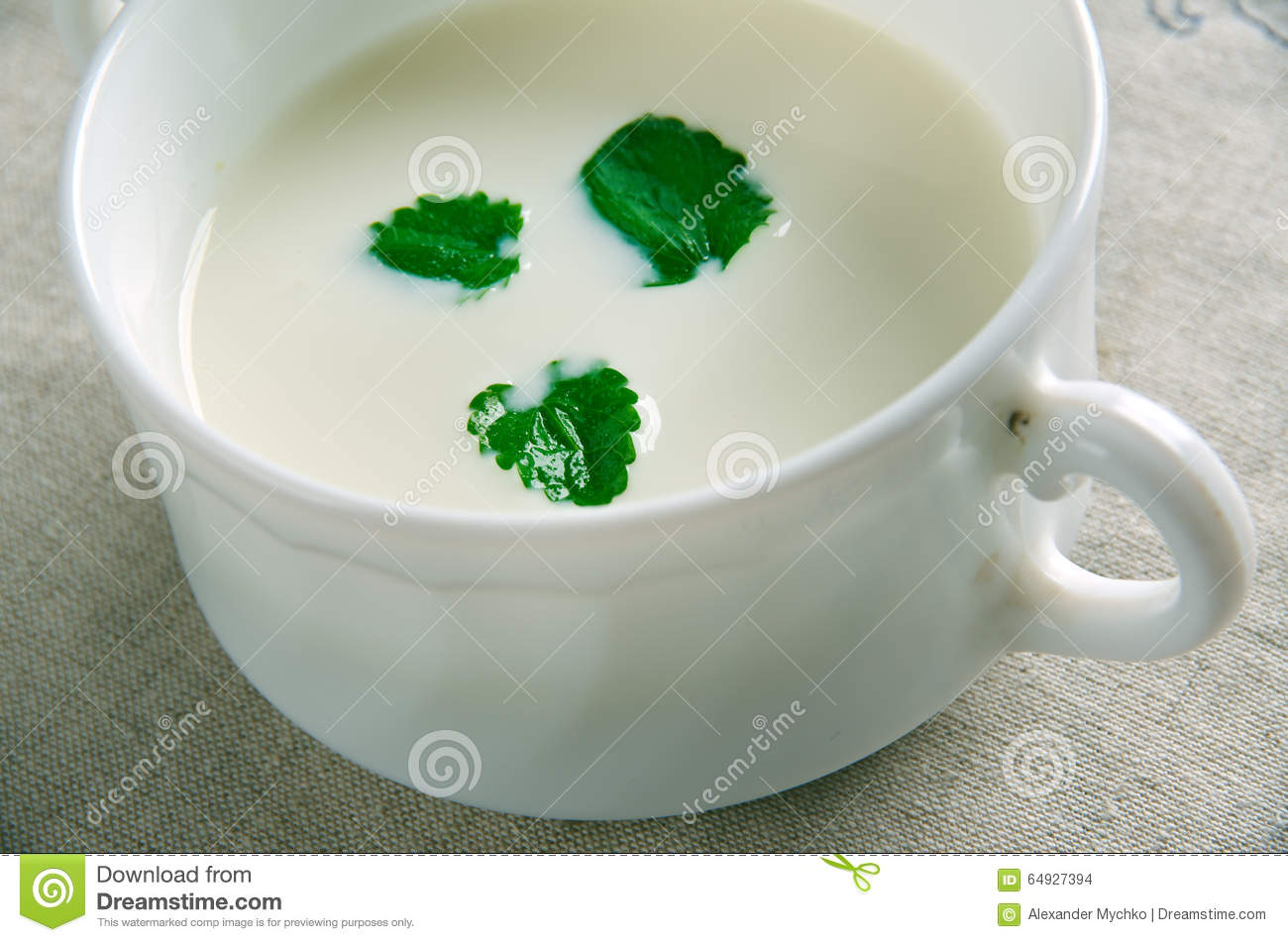 Minty Garlicky Yogurt Sauce Stock Photo - Image: 64927394