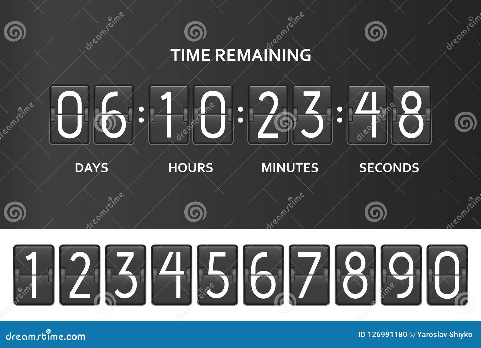 Minuterie de compteur d horloge de compte à rebours de secousse Chronométrez le compte restant embarquent vers le bas avec le tab