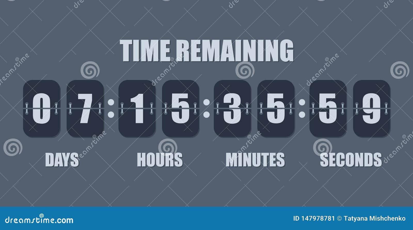 Minuterie de compteur d horloge de compte ? rebours de secousse Le compte restant de temps de vecteur renversent vers le bas le c