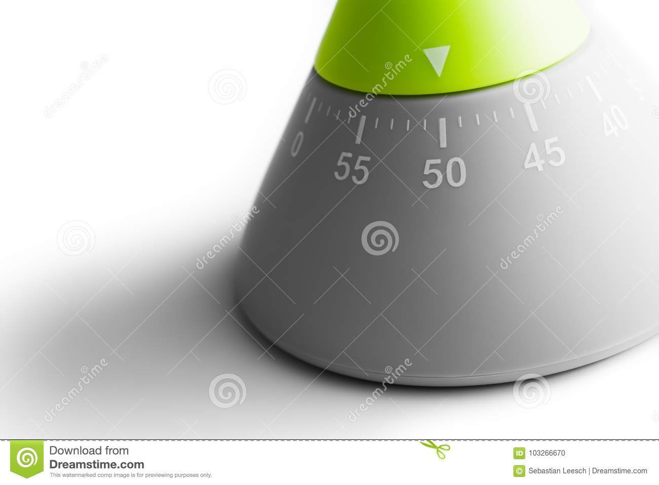 50 Minutes - Macro Of An Analog Kitchen Egg Timer