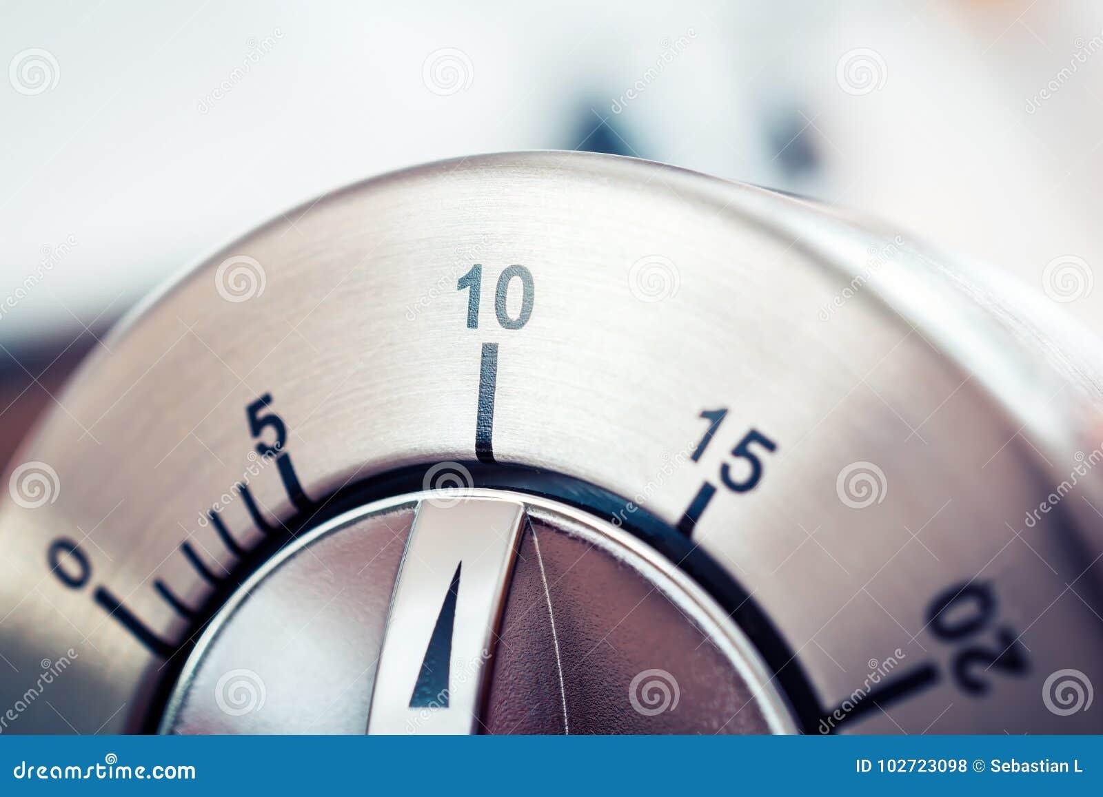 10 minutos - temporizador análogo da cozinha de Chrome