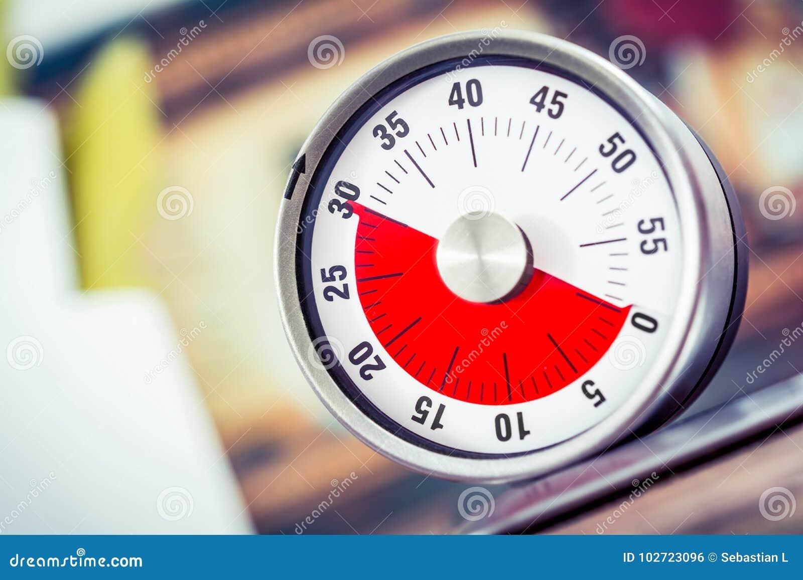 30 minutos - temporizador análogo da cozinha em Cooktop