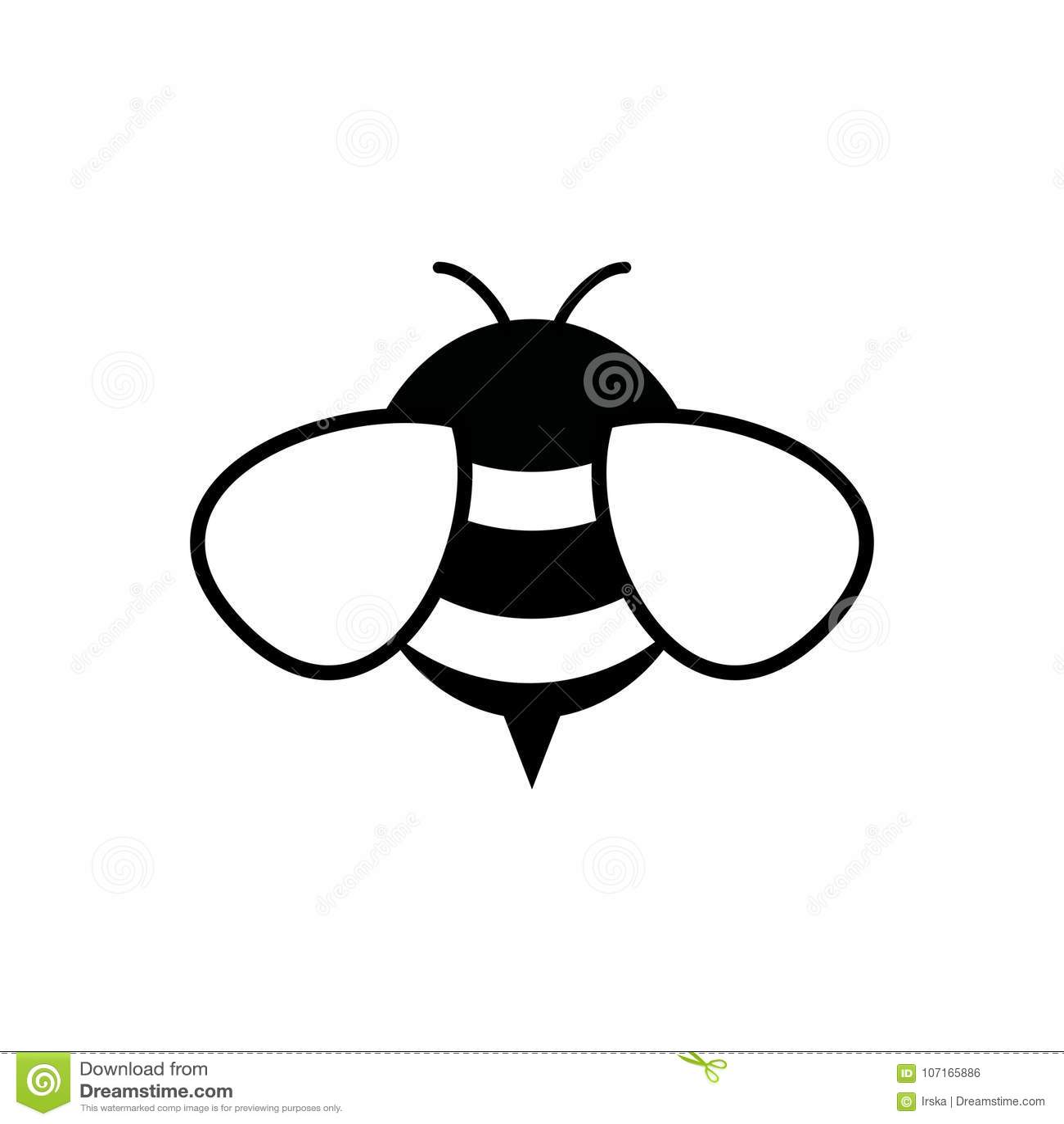 Miodu i pszczoły ikona Miodowy wektor