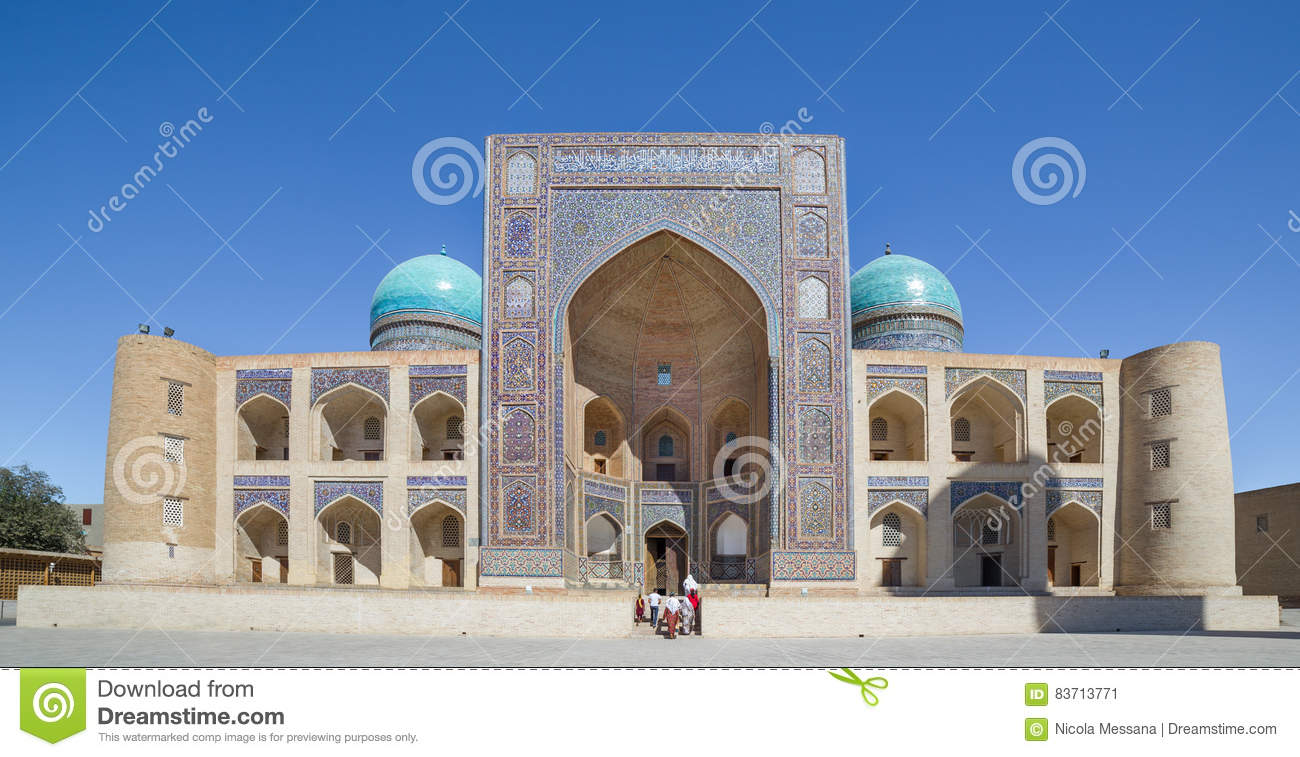 Mir-i-Arab Madrasa In Bukhara Buxoro, Uzbekistan Editorial Photo
