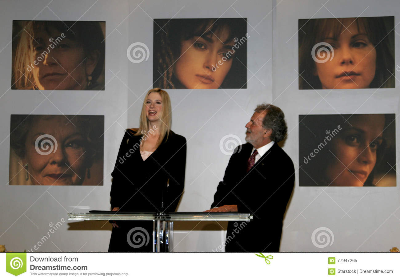 Oscar Winner Mira Sorvino And Academy President Sid Ganis Attend The 78th Annual Awards Nominations Held At Of Motion Picture Arts