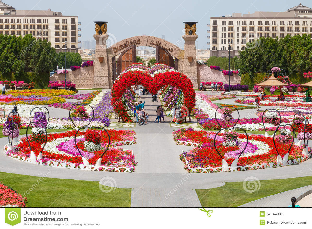 dubai miracle garden happy birthday image