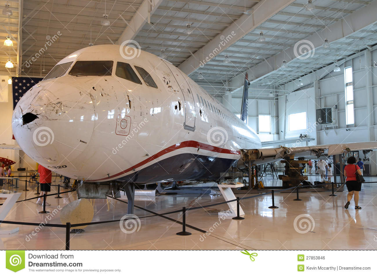 Miracle on the Hudson, Flight 1549, in Charlotte royalty free stock image