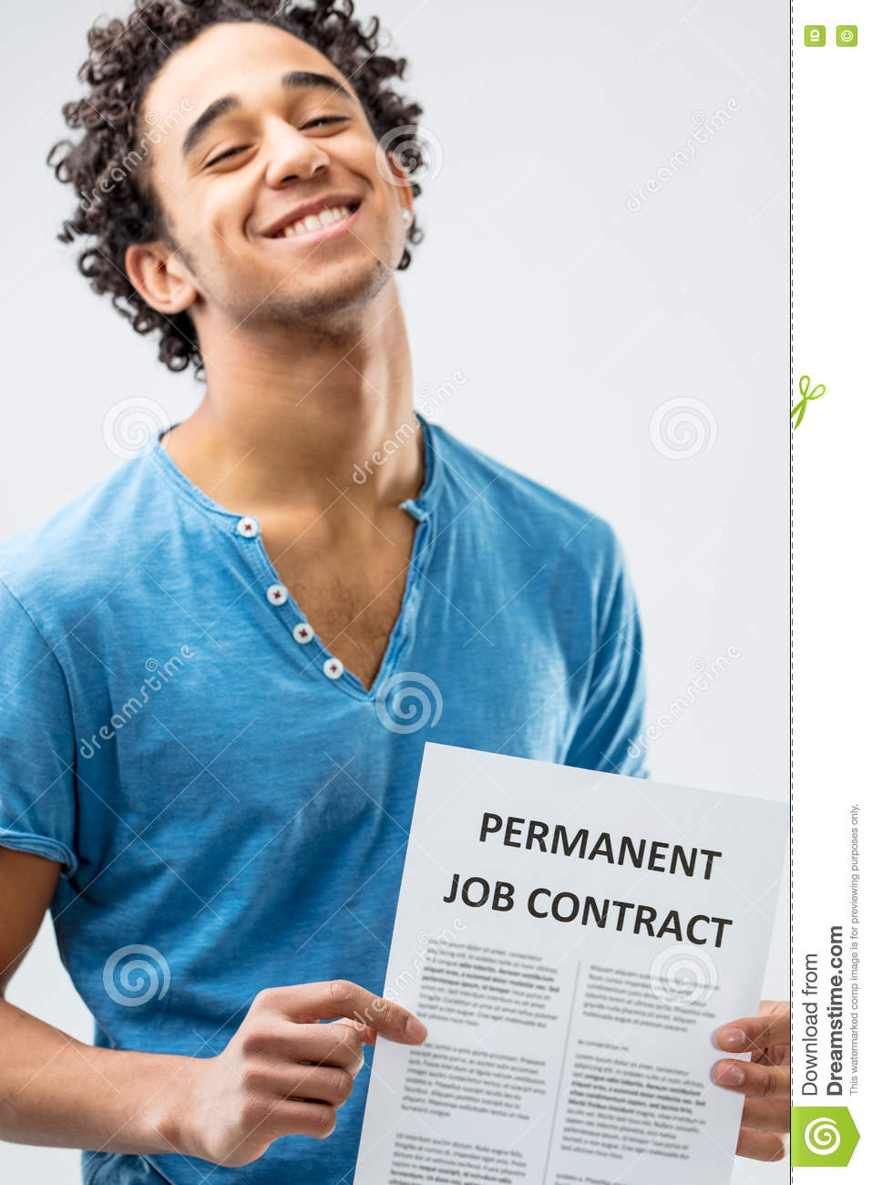 the miracle of a permanent job contract stock photo image  the miracle of a permanent job contract