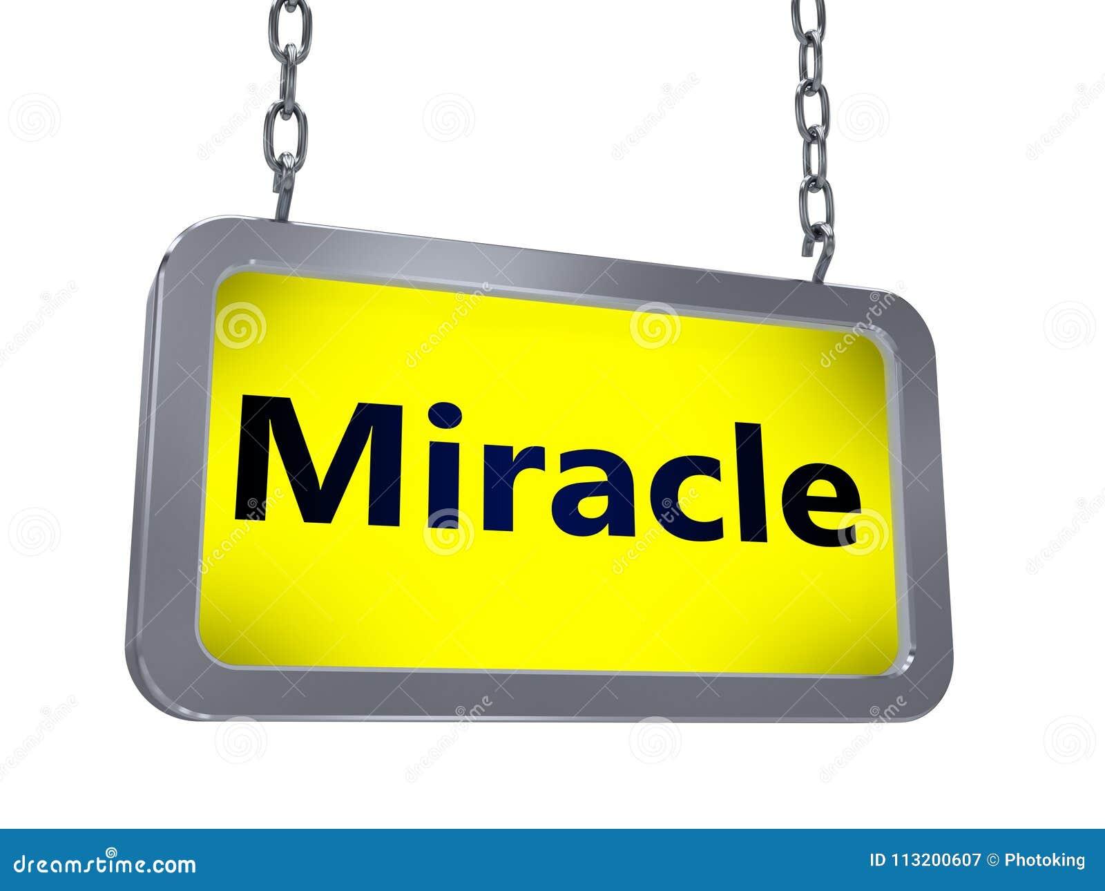 Miracle sur le panneau d affichage