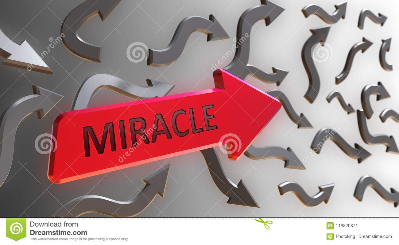 Miracle Word On red Arrow