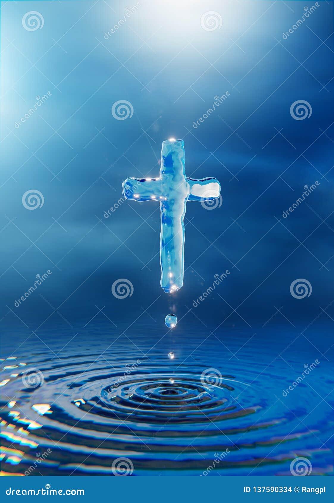 Miracolo trasversale cristiano dell acqua santa di concetto