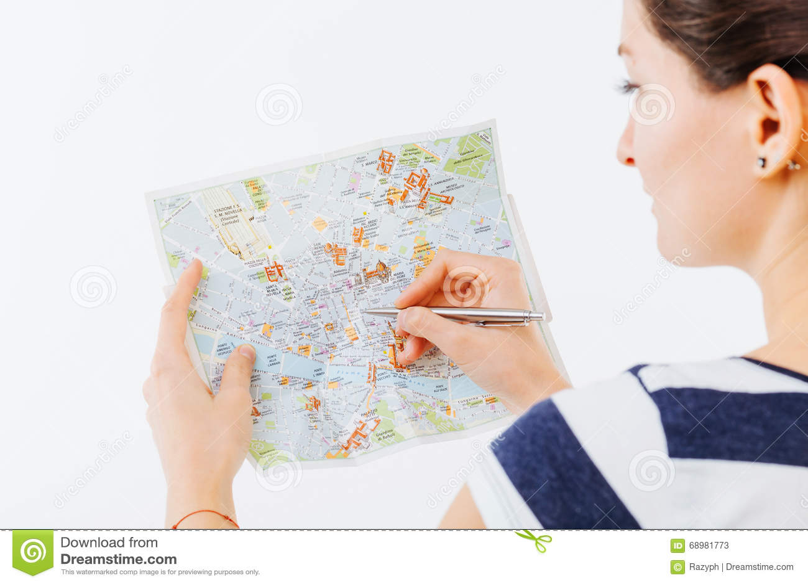 Mirada en un mapa