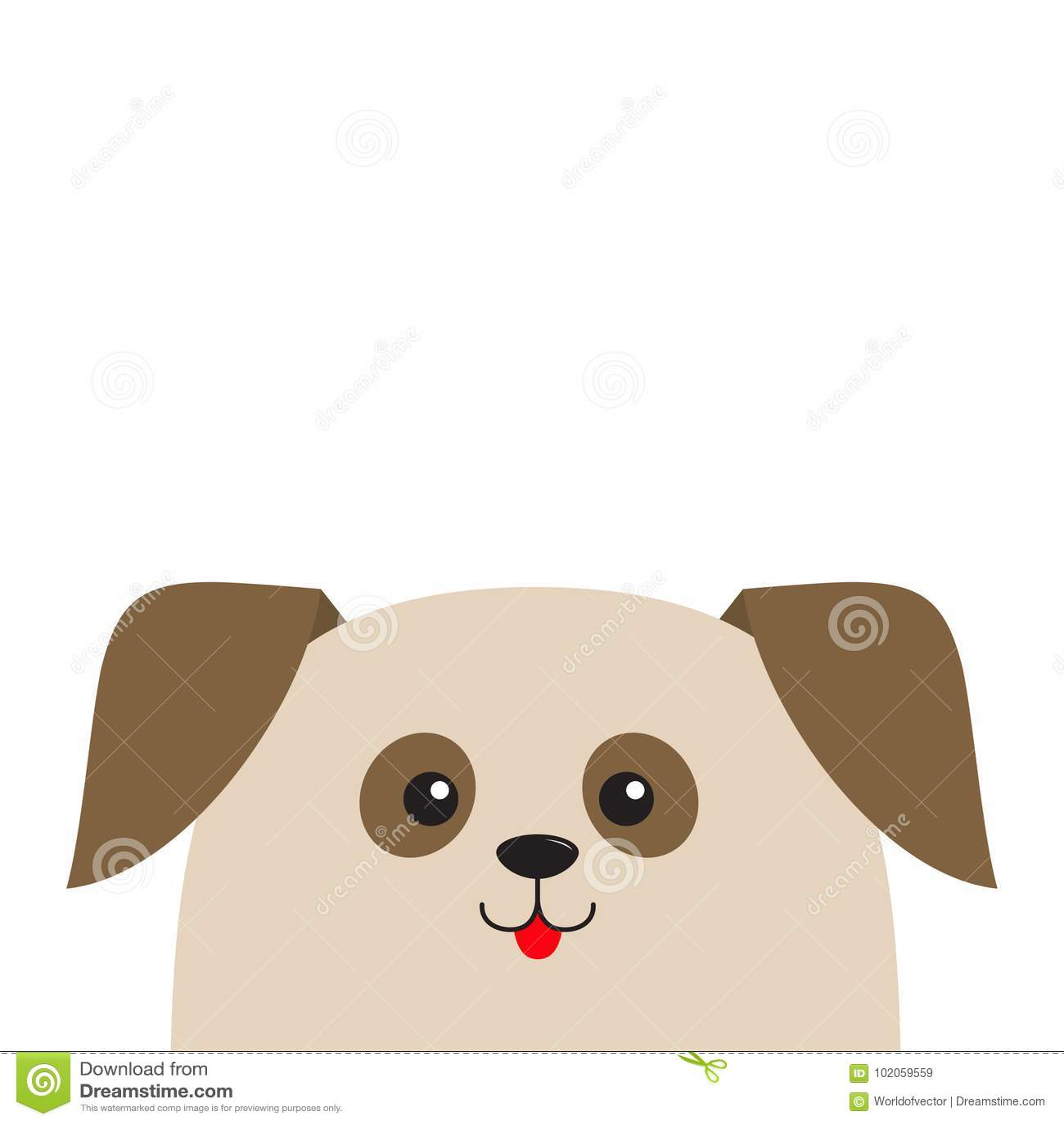 Mirada Principal Del Perrito Del Perro Para Arriba Personaje De